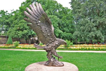 Dekofigur bronziert - Modell Adler Ruhmesflügel - Bronzefigur Figur In-/Outdoor