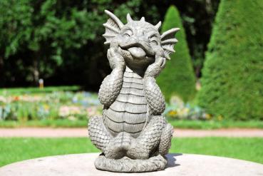 Gartenfigur Gartendrache - Modell süßer Bengel - Fantasy Figur Deko Drache süß
