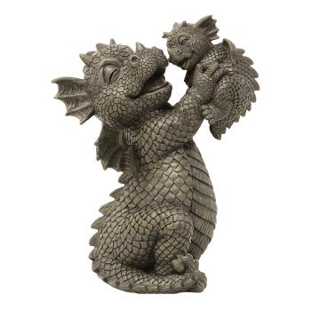 Gartenfigur Gartendrache - Modell Baby - Fantasy Figur Deko Drache süß