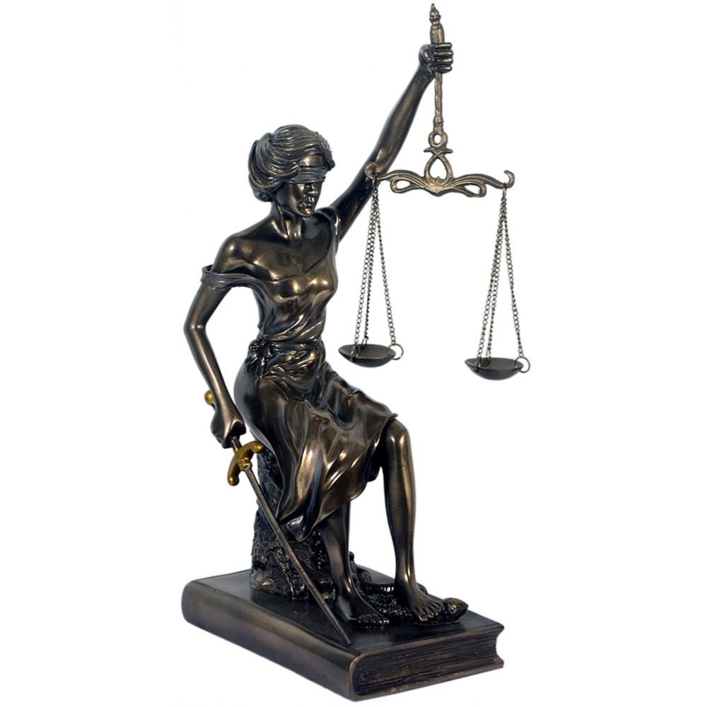 statue,justitia,bronziert,20x7cm,figur,veronese,mit waage,polyresin,römisch